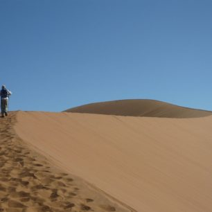 Treking pouští, Naukluft mountains, Namibie