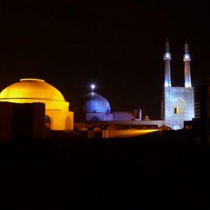 Pozdně večerní Yazd