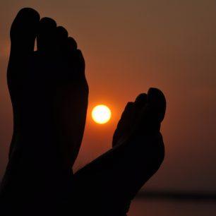 Západ Slunce nad Zambezi