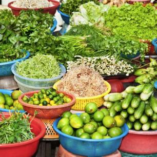 Čerstvá zelenina hraje důležitou roli, Vietnam