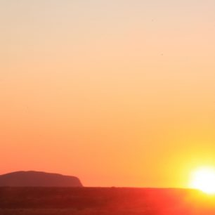 Západ slunce nad Uluru, Austrálie