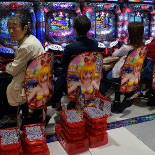 Oblíbená hra pachiko, Japonsko