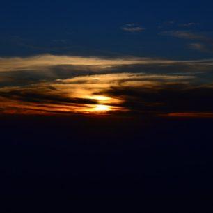 Západ slunce nad horami, Kilimandžáro, Tanzánie