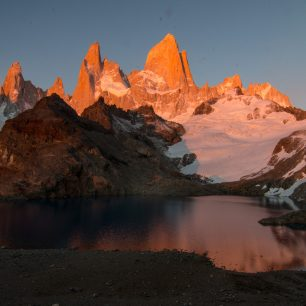 Výhled na Mt. FitzRoy, Patagonie, Argentina
