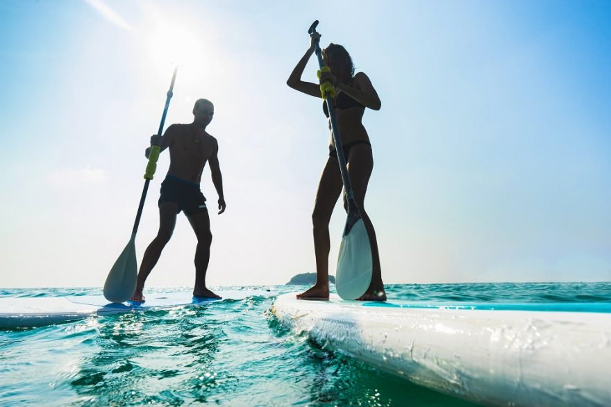 Paddle boarding, Mauricius